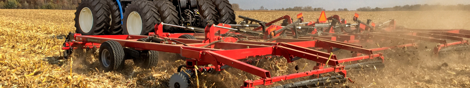 Vertical Tillage on a field